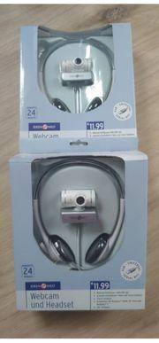USB-Webcam mit Headset original verpackt