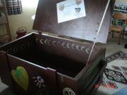 große HolzDeckel Truhe Koffer Kiste