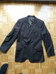 H M Anzug braun Nadelschreifen
