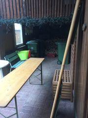 Biergarten Tisch und 2 Bänke