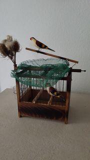 Kombi Vogelfalle Stieglitz Lebendfalle Schlagnetz