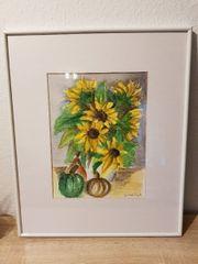 Bild Sonnenblumen - Aquarell
