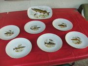 Teller Fleischpaltte Angler Forelle Barsch