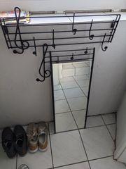 Haken Garderobe und Spiegel mit