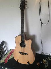 Western Gitarre mit Viel Zubehör