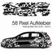 Auto Seitenaufkleber Dekor Pixel Aufkleber