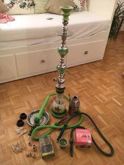 Shisha grün unbenutzt Komplettset