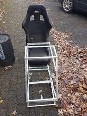 sportsitz mit lenkgradgestell selbsgebaut