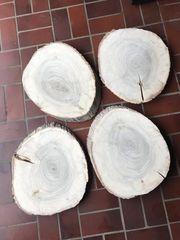 DIY-Tisch Holzscheibe Baumscheibe 50x60cm Pappel