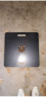 Fahnenständer Aufsatz Metallplatte Bodenplatte Fahnen
