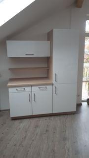 Küchenblock Schränke Eiche Virginia Weiß