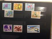 Briefmarkenalbum mit 10 Seiten Sport