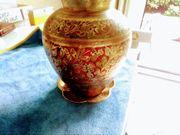 Blumenvase India Messing Antik mit