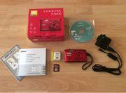 Nikon Coolpix S3600 Digitalkamera rot