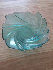 Glasschale grün