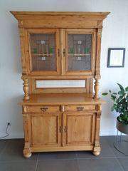 Antiker Küchenschrank aus Weichholz mit