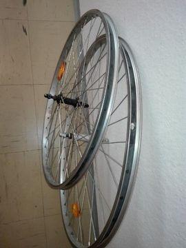 Fahrradzubehör, -teile - 1-28Zoll Vorderradfelge neuer Mantel 26