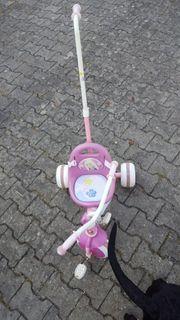 Barbie Dreirad mit Schubstange
