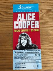 Alice Cooper Ticket Konzertkarte alt