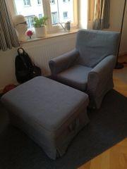 Ikea Sessel inkl Hocker mit
