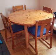 Echtholz-Esstisch zwei zusätzliche Platten 6