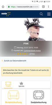 Konzertkarten PINK 22 7 Frankfurt