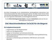 CNC-Maschinenbediener m w d für