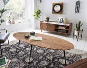 Massiv Holz Couchtisch 150x60x45 cm