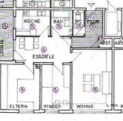 Gepflegte 3 5-Zimmer-Erdgeschosswohnung mit Balkon