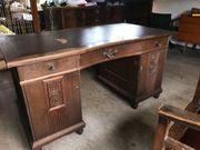 alter Schreibtisch Eiche mit passendem