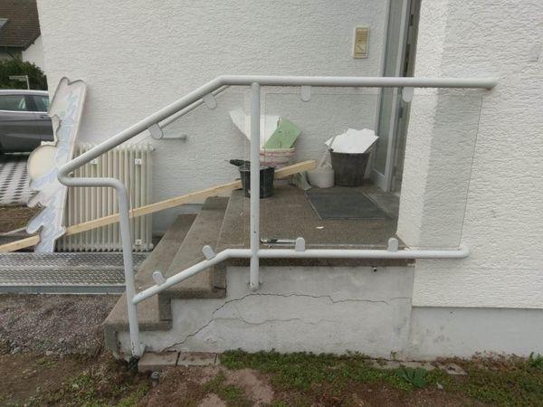 Treppengeländer Handlauf 3 Stufen außen