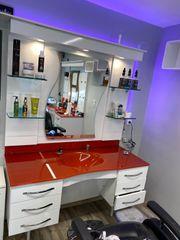 Friseur Barber bedienungsplatz mit Waschbecken