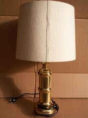 Beistellampe 67 cm messing alt