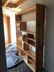 Raumteiler Regal Holz Massiv 150
