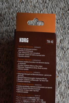 Sonstiges, Noten, Midi - Korg TM-40 Stimmgerät und Metronom - kaum