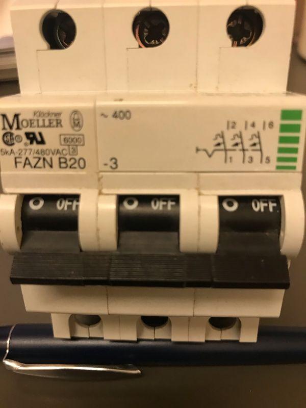 Sicherungautomat 3Phasen Möller FAZN B20