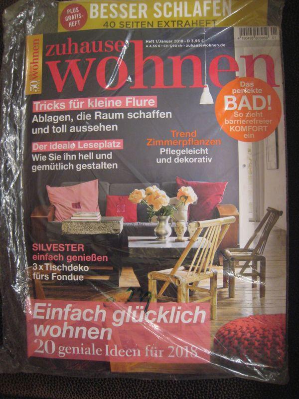 Zuhause Wohnen Zeitschrift neu verschweißt zeitschrift zuhause wohnen nr 1 2018 plus