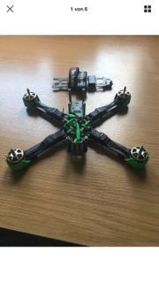 Quadrocopter QAV-R 6Zoll inkl Zubehör