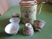 Teeservice und Teedose