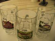 Glas-Bierkrüge, Festkrüge