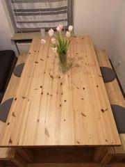 Echtholz Tisch mit 2 Sitz