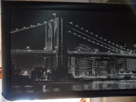 Kunst, Gemälde, Plastik - Bild von Brücke ca 176x64cm
