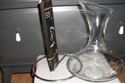 2 Teile Wein-Dekantierkaraffe mit Halter