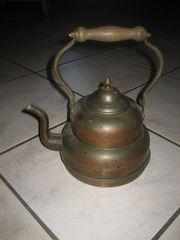 Wasserkessel Teekanne Flötenkessel Kupfer-Kanne mit