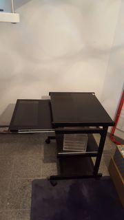 Computertisch Metall ausziehbar gebraucht kaufen  Ilvesheim