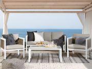 Lounge Set Aluminium 5-Sitzer weiß
