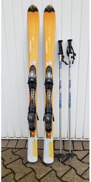 Atomic Skier und Salomon Skischuhe -