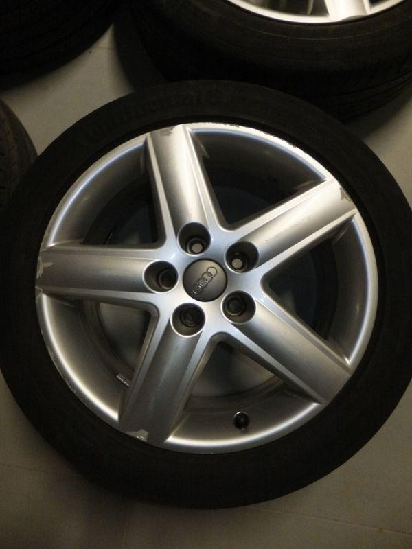 """Original Audi A4 8E 8H A6 4F 4B S-Line 7, 5J X 17"""" Alufelgen ET 45 - Erbach - Verkauft wird ein Satz Audi Alufelgen Typ 4F0601025AF5 Loch, 112mm Lochkreis7,5x17"""" Zoll GrößeEinpresstiefe (ET) 45Mittelloch 57mmDie Felgen sind in einem guten Zustand und haben nur kleine oberflächliche Gebrauchsspuren.Laufen Super und haben - Erbach"""