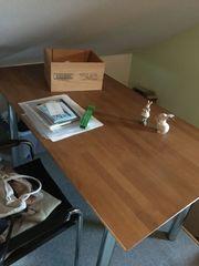 Tisch Esstisch Buche Gestell Chrom