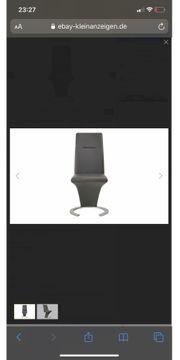 Kunstleder-Schwingstühle 4x - neu - dunkelgrau - Serie